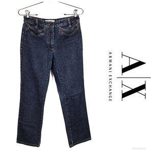 ARMANI EXCHANGE Pin Striped Jeans Sz 2 $98!